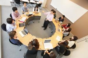 学びの中心となるプロジェクト型学習の様子