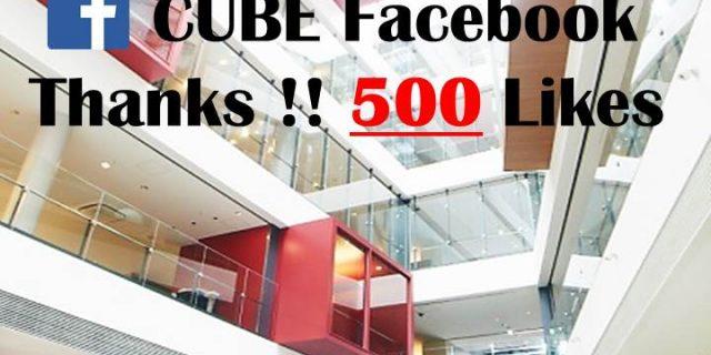 CUBEの公式Facebookに「いいね!」をお願いします