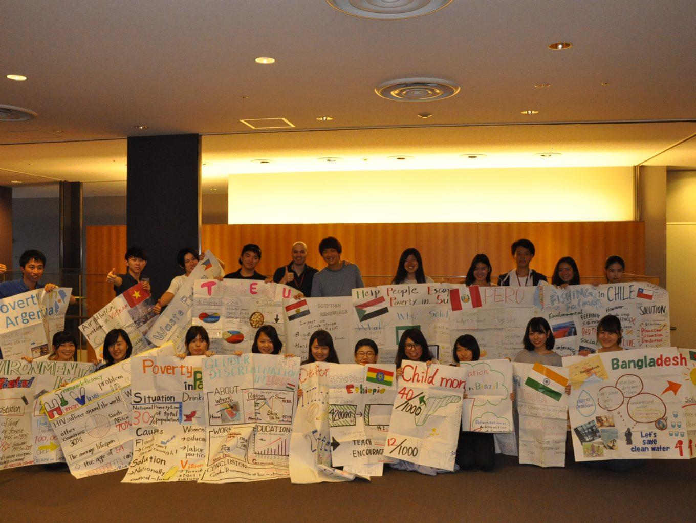 Sustainability issue   1回生によるプレゼンテーションの様子